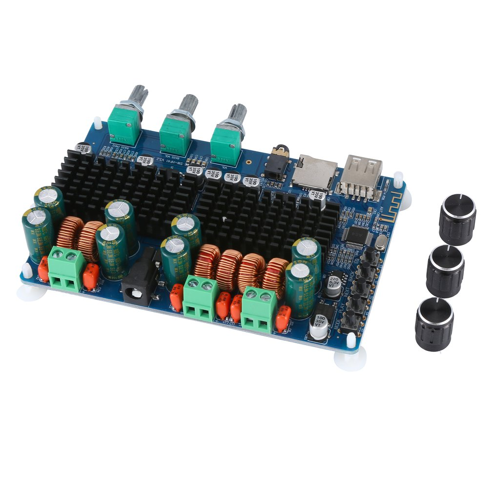 USB Tf Decoding 2.1 Channel Digital Power Amplifier Board 2.1 Digital Power Amplifier Board Hf41 Durable