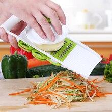 Mandolinenschneider mit Austauschbaren Edelstahl Klingen Gemüseschneider Schäler Reibe Multifunktionale Küche Werkzeuge