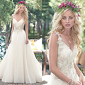 Vestidos Де Novia Sexy Тюль Свадебные Платья Vintage Boho Дешевые Свадебные Платья 2016 Robe De Mariage Свадебные Платья Casamento