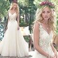 Vestidos De Novia Sexy Tule Vestidos de Casamento Do Vintage Boho Baratos Vestidos de Casamento 2016 Robe De Mariage vestidos de Noiva Vestidos de Casamento