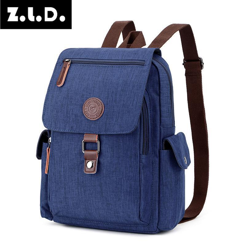 Z.L.D. new multi-functional men and women backpack OL luxury brand design denim canvas backpack Mochila Feminina  MochilaZ.L.D. new multi-functional men and women backpack OL luxury brand design denim canvas backpack Mochila Feminina  Mochila