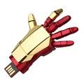 Hero iron man hand 4gb 8gb 16gb 32gb 64gb memory stick pendrive pen drive usb flash drive with h2testw