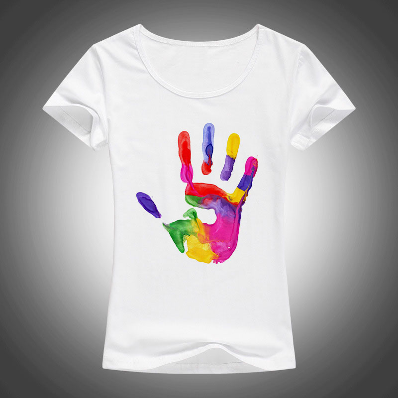 2016 new t shirt women high quality slim tops short sleeve for Full hand t shirts for womens