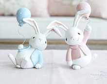 Nordic lovely cute Bunny Rabbit fairy Statue Figurine Miniature Home decor table Decoration Crafts kid gift