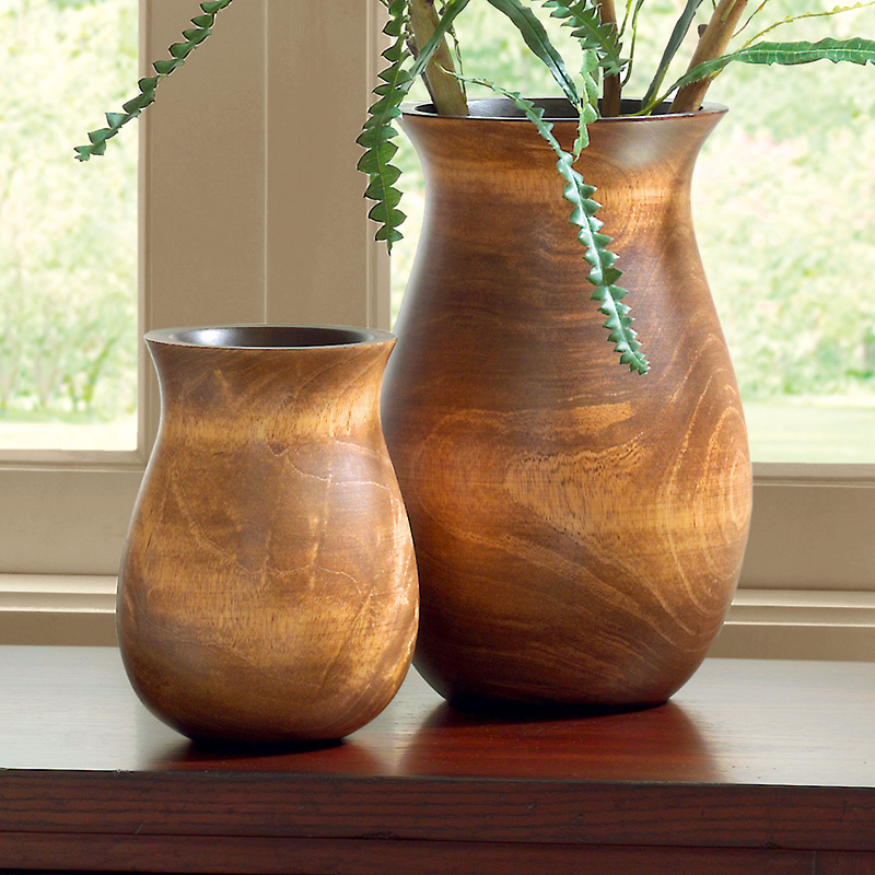 Round Mango Wood Vase American Style Home Accessories In Vases From Home Amp Garden On Aliexpress