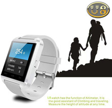 Heißer U80 Bluetooth Smart-armbanduhr mit Höhe meter Smartwatch Für IOS Android Handys Armbanduhr