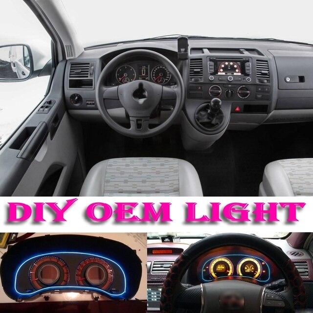 auto sfeer licht flexibele neon light el wire interieur licht decoratieve decals binnen tuning voor volkswagen