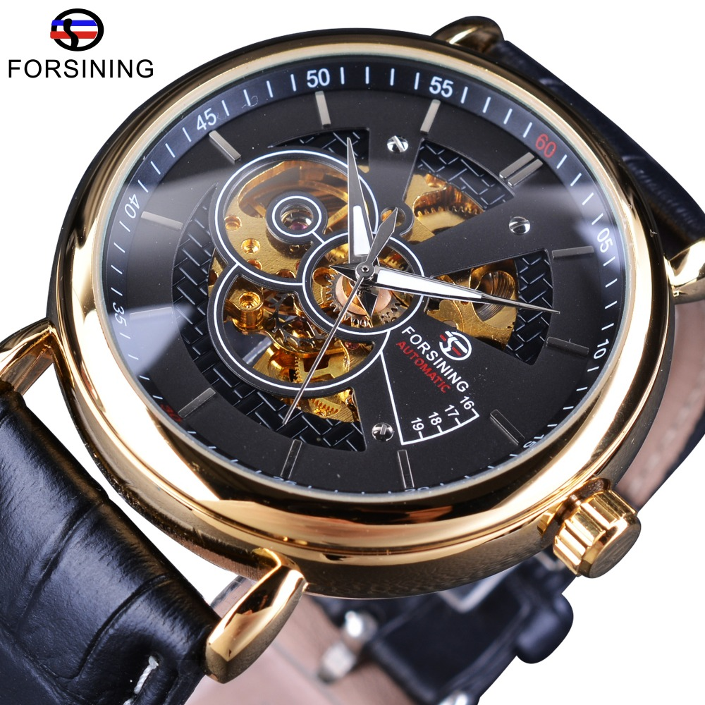 Forsining Men Of Taste Series Transparent Men Automatic Self Wind Wrist Watches Top Brand Luxury Skeleton Mechanical Men Watch forsining 2017 dragon series transparent silver case mens watches top brand luxury mechanical skeleton watch male wrist watches