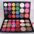 Wholesale All in one Pro 44 Colorful Mixed Blush Contour Lipgloss Concealer Combo Makeup Eye Shadow Palettes Set Free Shipping
