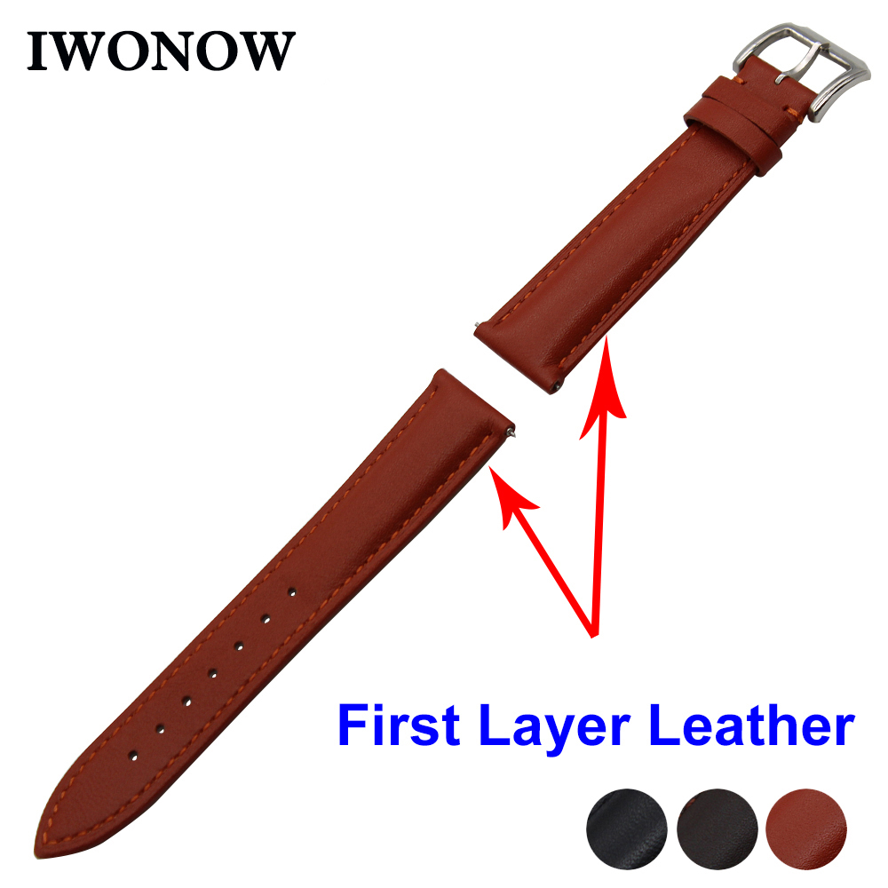 First Layer Genuine Leather Watch Band 18mm 20mm 22mm for Fossil Stainless Buckle Strap Quick Release Wrist Belt Bracelet 18mm 20mm 22mm calf genuine leather watch band quick release strap for tissot t035 prc200 t055 t097 wrist belt bracelet black