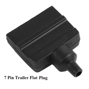 Image 5 - 12 V Auto Accessoires 7 Pin Platte Trailer plug 7 manier core pole truck vrouwelijke adapter Towing Elektra campe towing connector