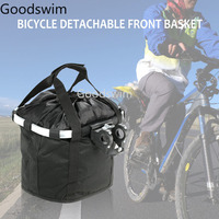 Bicycle Bags Panniers Bike Detachable Cycle Front Canvas Basket For E Bike Scooter Carrier Bag Shopping Pet Carrier
