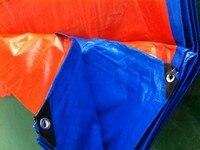 Customize 6mX4m Blue And Orange Outdoor Commodity Covered Cloth Waterproof Canvas Rain Tarpaulin Truck Tarpaulin