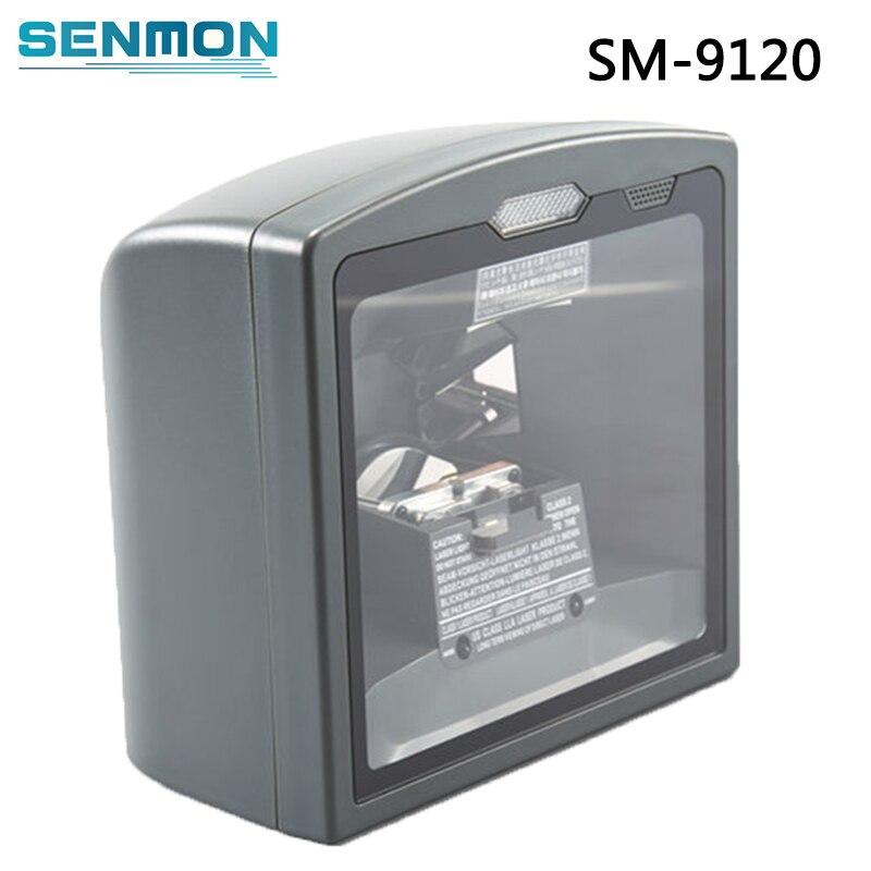 Lecteur de codes barres Laser omnidirectionnel mains libres de Scanner de codes barres 1D Vertical à montage fixe de SM-9120