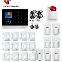 Wireless Wifi GSM GPRS RFID Home Security Alarm System Smart Home Automation System IOS Android App