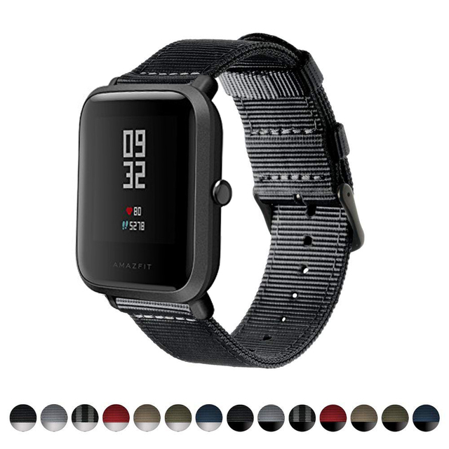 DKPLNT 20mm nylon Watch Strap for Huami Amazfit GTS GTR 42mm Bracelet for Huami Amazfit Bip U Bip S GTS 2 Watch Bands 3