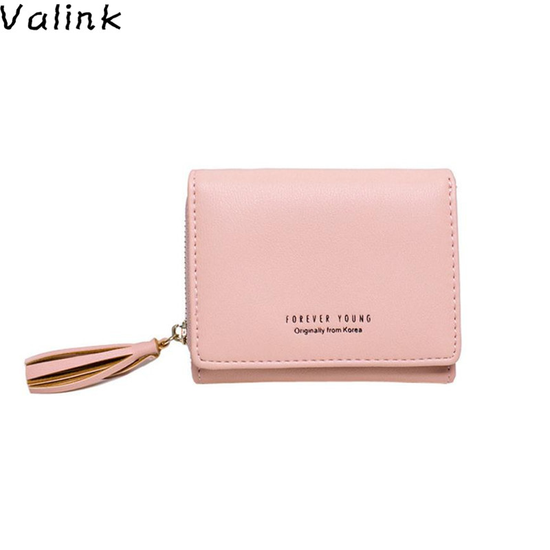 Valink 2017 New Women Pu Leather Small Wallet Holder Multi-functional Three Fold Wallet Women Luxury Brand Female Bag Carteras