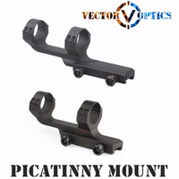 Vector Optics Tactical 30mm One Piece Scope Offset Picatinny Mount Integral Rings Long Flat Top Mil