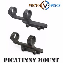 Vector Optics Tactical 30mm One Piece Umfang Versatz Picatinny Mount Integral Ringe lange flache Top Mil-Spec Mattschwarz