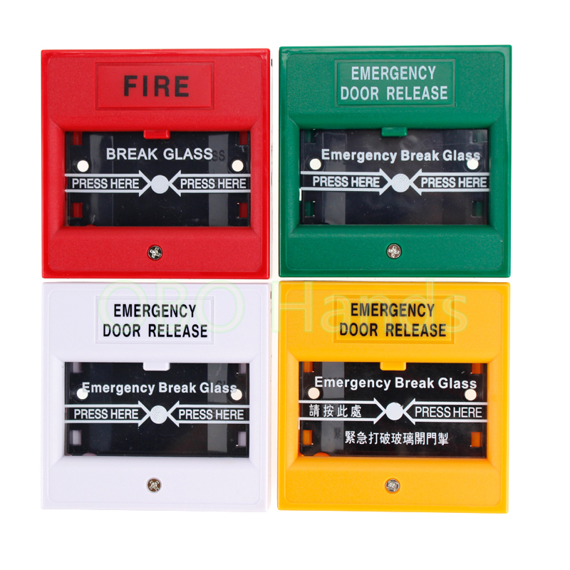 Free shipping Full colors NO/NC/COM Emergency Break Glass Alarm Button Emergency Door Release Exit Button
