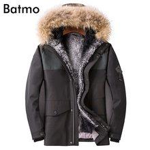 Batmo 2018 nuovo di arrivo di inverno di alta qualità del coniglio di  pelliccia calda fodera giacca con cappuccio da uomo 15308418908