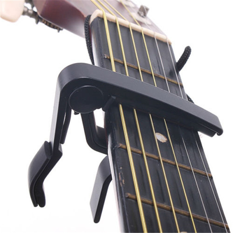 Aluminium Alloy Quick Change Clamp Key Clip Acoustic Classic Electric Guitar Capo for Tone Adjusting portable guitar capo acoustic electric guitars tune quick change trigger flat change clamp key capo guitar accessories