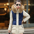 Winter Jacket Women 2016  New Winter Womens Brand New Big Raccoon Fur Collar Army Green Casual Long Slim Warm Parka