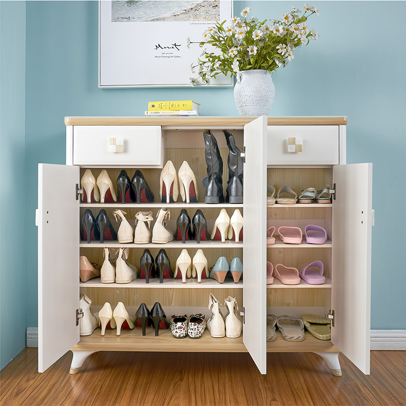 Merveilleux Louis Fashion Real Wood Shoe Cabinet To Open The Door Of Large Capacity  White Paint Balcony Storage Cabinet In Shoe Cabinets From Furniture On ...