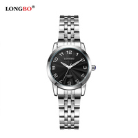 Watches Women Luxury Brand LONGBO Fashion Women S Quartz Watch Waterproof Lady Full Steel Wristwatches Relogio