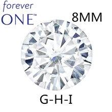 STARYEE Original Charles Colvard Für Immer Eine Lab Grown Moissanite Zertifiziert 2 Carat Wirkung 8mm VVS GHI Farbe Lose Diamant stein