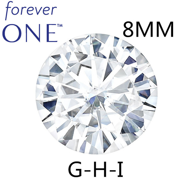 STARYEE Original Charles Colvard Forever One Lab Grown Moissanite Certified 2 กะรัตผล 8 มิลลิเมตร VVS RECORD สี Diamond หิน