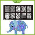 10 Unids/set Envío de Nuevo Libre DIY BQAN BCN24 Netty Dibujos Únicos Estilos Nail Plate Estampación de Acero Inoxidable