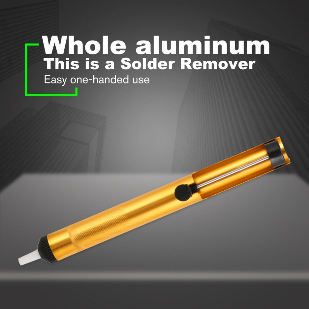 Aluminum Metal Desoldering Pump Suction Tin Gun Soldering Sucker Pen Removal Vacuum Soldering Iron Desolder Hand Welding  ToolsAluminum Metal Desoldering Pump Suction Tin Gun Soldering Sucker Pen Removal Vacuum Soldering Iron Desolder Hand Welding  Tools