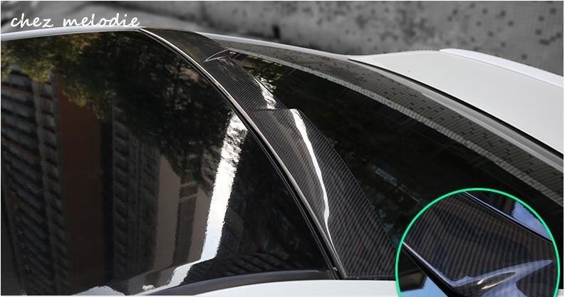 Véritable fibre de carbone/apprêt non peint FRP voiture toit arrière pare-brise aileron aile pour TOYOTA CAMRY 7 2012-2017, pas de forage nécessaire