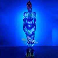 LED/EL Light Clothing Glowing Dance LED Clothes Fashion Men/Women Luminous Costumes Scintillation Stage Performance Dance Suits