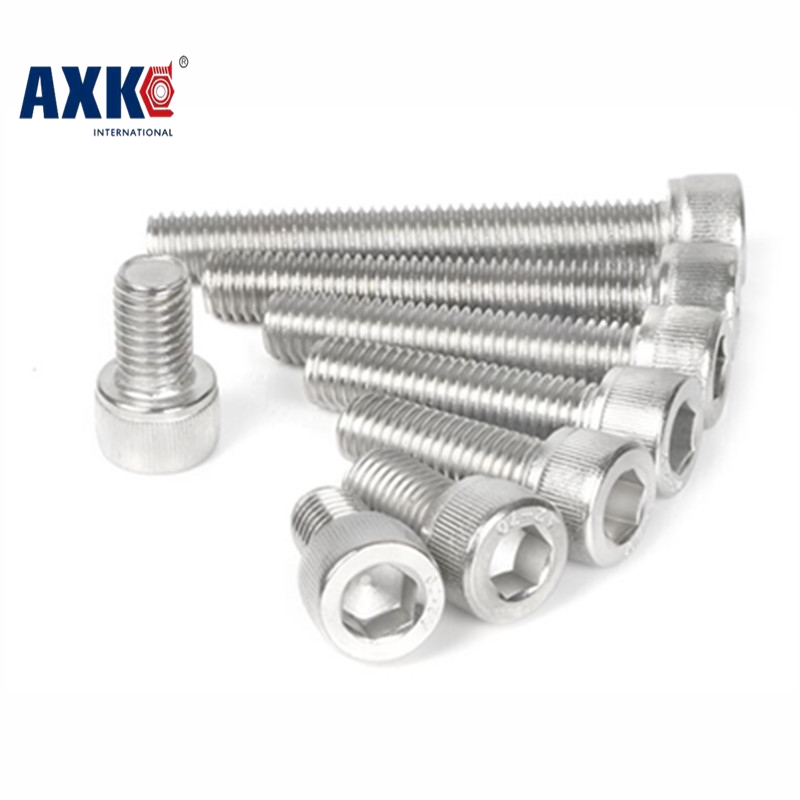 10pcs Hex Socket M6x80/85/90/100mm  304stainless steel cup head Machine screws inner hexagon Hardware 160pcs round head nuts machine fasteners tools for woodworking hexagon stainless steel socket m4 6 8 10 12 16 20 screws