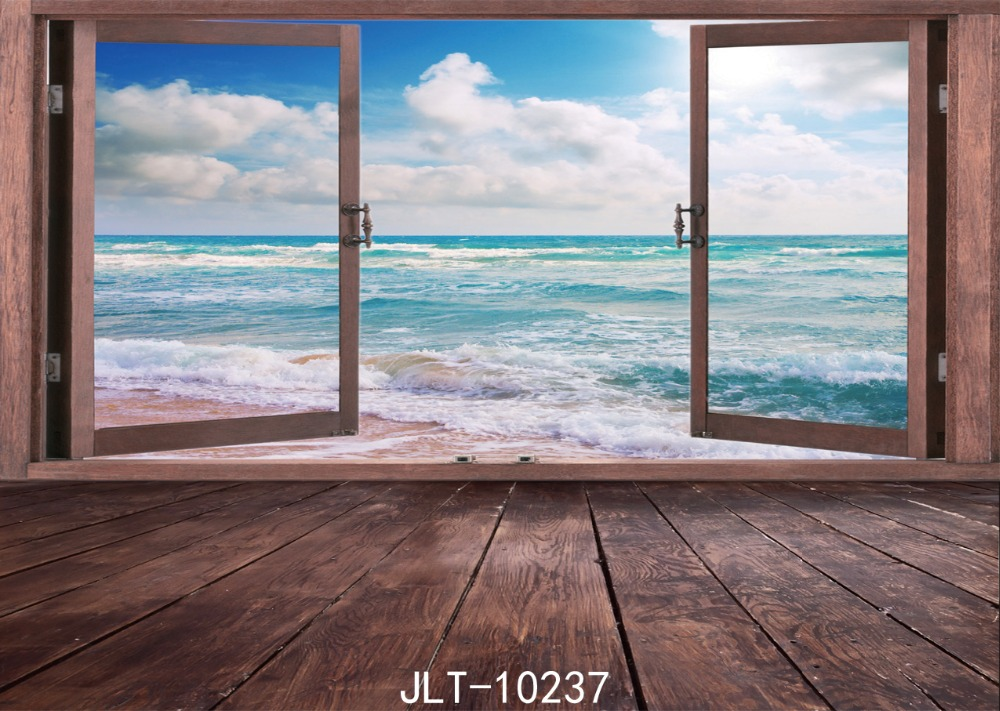 SJOLOON 9x6ft blue sea photo background for children backdrops wood thin flloor vinyl for photo studio photographic backdrops loogu 9m x 10m 29 5ft x 33ft sea blue