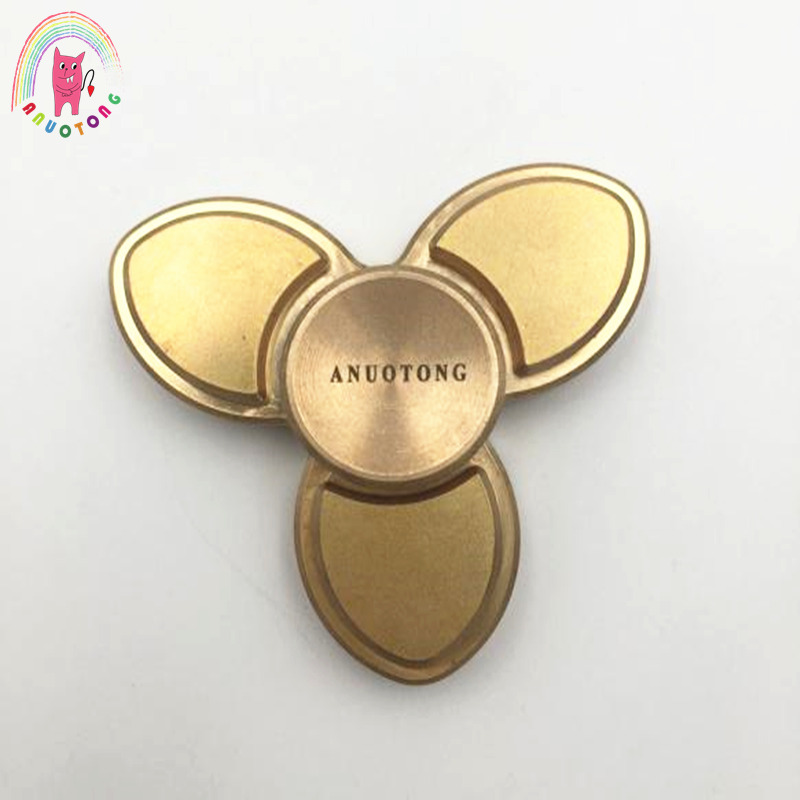 2017 Nieuwe Tri-Spinner Fidget Spinner Copper Toy Hand Spinner Fidget For Autism And ADHD Kids/Anti Stress Adult Toys