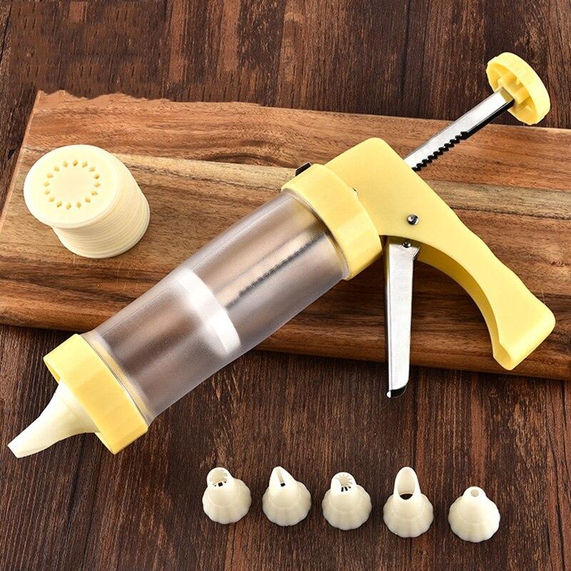 Ferramentas de cozimento de Decoração Do Bolo de Pastelaria Bicos Confeiteiro Piping Syringe Gun Set Cookies Decoração Biscuit Fabricante de Biscoito Bakeware Arma #