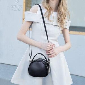 Image 5 - حقيبة جلدية أصلية موضة حقائب كروسبودي للنساء حقيبة كتف السيدات الصغيرة الفاخرة الإناث حقيبة يد محفظة حمل