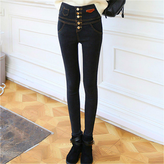 denim leggings legging jeans calca legging jeans Pencil Pants Leggings Women High Waist legins woman  harajuku pants korean