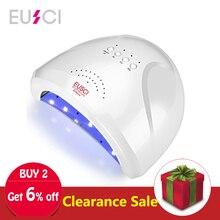 EUSCI 48 Вт светодио дный лампа для лака для ногтей машинка с ультрафиолетовым излучением Сушилка для ногтей гель-леча быстрая сушка солнце один Professional с инфракрасным датчиком