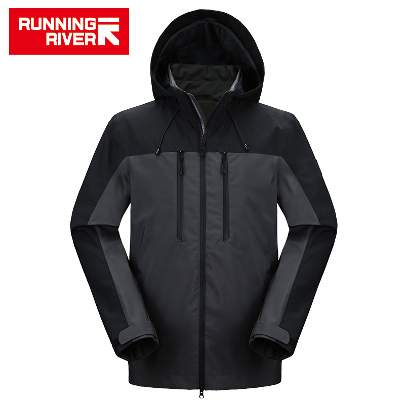 RUNNING RIVER Men Camping Hiking Jacket 4 Colors Size 46 - 56 High Quality Clothes Outdoor windbreaker Windproof coat #K8369 цена и фото