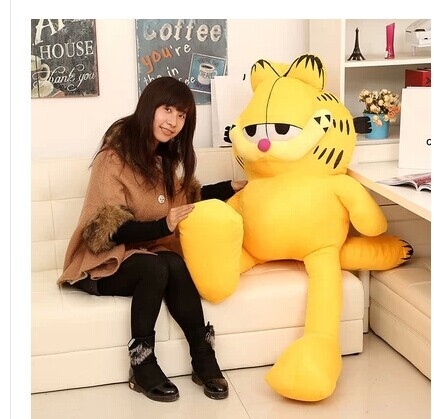 цены Stuffed animal 100 cm Garfield cat plush toy doll high quality gift present w1264