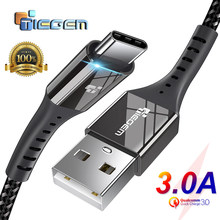 TIEGEM USB Type C Cable USB-C 3A Fast Charging Type-C Cable Sync Data Cable for Samsung S8 S9 S10 Xiaomi mi9 note 7 8 9 cord(China)