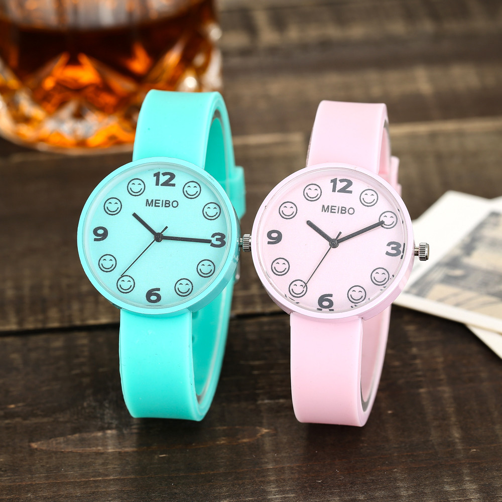 Colorful Beautiful Fashion Simple Watch Ladies Leather Belt Watch For Gift minimalist lover 's watch часы женские с браслето
