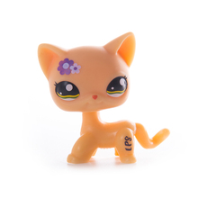 new pet genuine original lps 1679 cream maroon swirl bangs princess walking kitty cat collection figure toys Lps old collection Pet Shop cat Toys Lps free shipping Short Hair Cat Action Standing Figure Cosplay Toys Children Best Gift