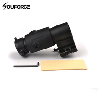 3X Magnifier Scope Quick Release For Hunting Rifle W Picatinny 20mm Rail Flip To Side Mount