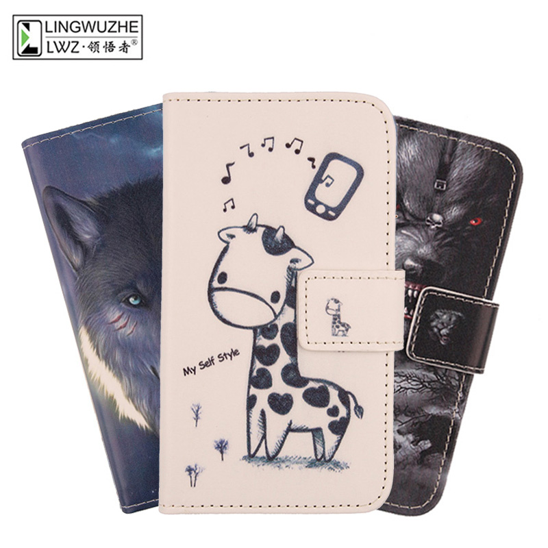 LINGWUZHE Cute Wallet Design style mobile PU Leather phone shell Case Cover For UMI Hammer S 5.5 Dual Sim