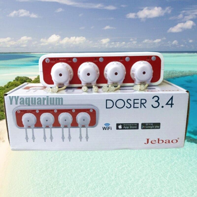 Jebao Auto DOSER 3 4 Aquarium DOSING PUMP Reef Coral Intelligent WiFi Peristaltic metering Machine with